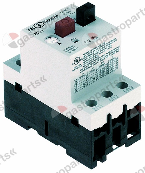 380.300, motor protection circuit breaker type Mbs25-016 setting range 1-1.6A (AC3/400V) 0,55kW