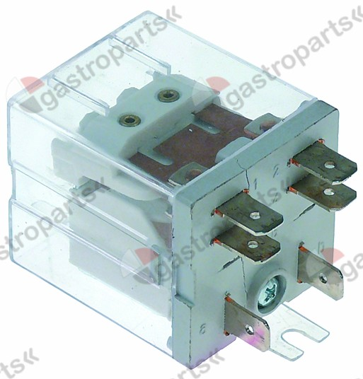 380.311, power relays Italiana Relè 230VAC 20A 1NC/1NO connection F6.3 bracket mounting