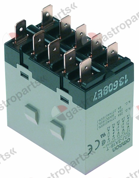 380.398, power relays V 25A 3NO/1NC 277V connection F6,3