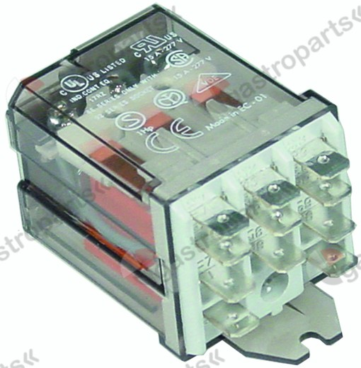 380.403, power relays FINDER 230VAC 16A 3CO connection F6.3 bracket mounting manuf. no. 62.83.8.230.0500