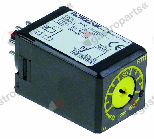 380.640, time relay TECNOLOGIC RTR12DS60S time domain 60s