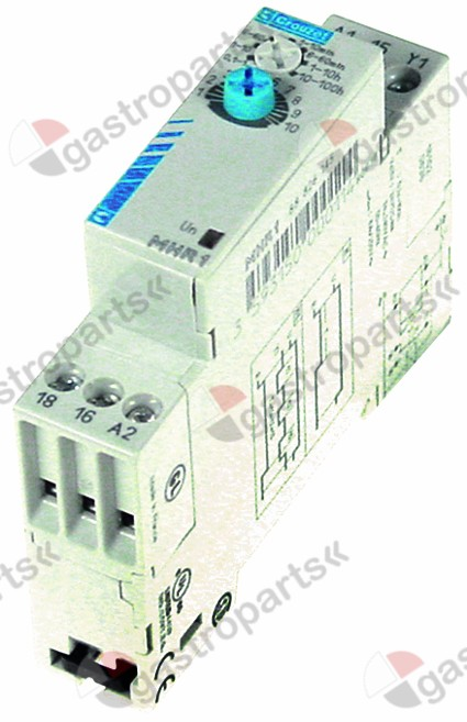380.682, time relay CROUZET time domain 1s-100h 24VDC