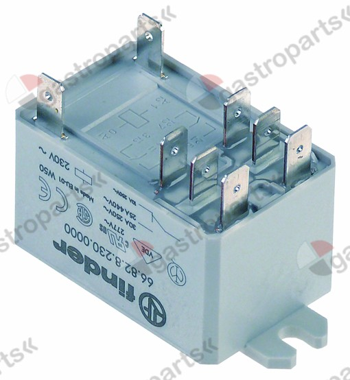 380.812, power relays FINDER 230VAC 30A 2CO connection F6,