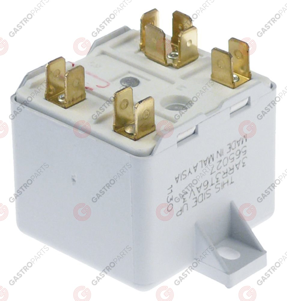 381.127, Start relay GENERAL ELECTRIC 3ARR3 T6AV3 230V 1NC connection male faston 6,3mm with strap