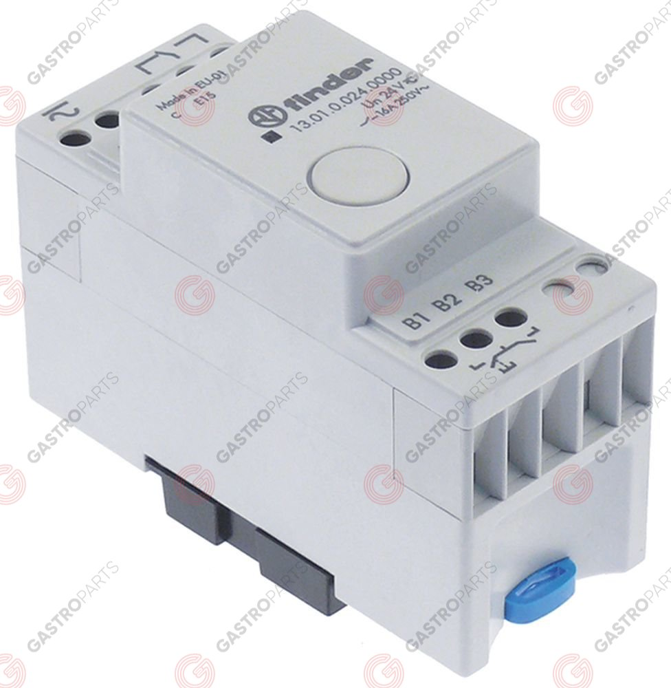381.195, Pulse relay AC/DC 1CO 250V 16A connection screw clamp DIN rail