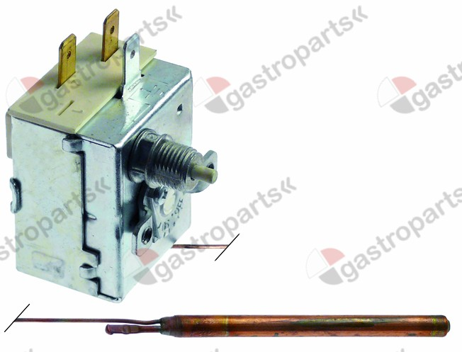 390.023, safety thermostat switch-off temp. 90-110°C 1-pole 16A probe ø 6,5mm probe L 90mm
