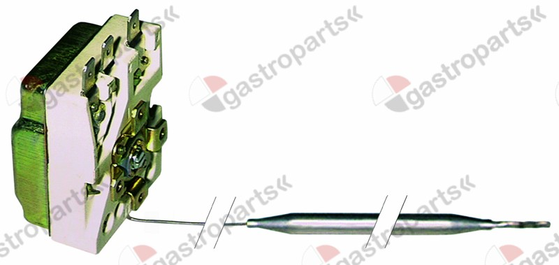 390.030, Replaced by 390663 / thermostat t.max. 90°C temperature range 30-90°C1-pole 1CO 15A probe ø 6mm probe L 174mm
