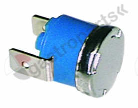 390.104, bi-metal thermostat switch-off temp. 95°C 1NC 1-pole 16A connection F6.3