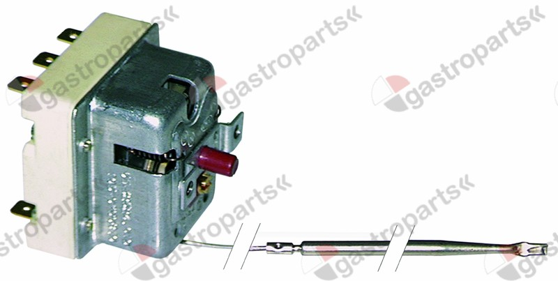390.113, safety thermostat switch-off temp. 240°C 3-pole 20A probe ø 4mm probe L 157mm capillary pipe 890mm