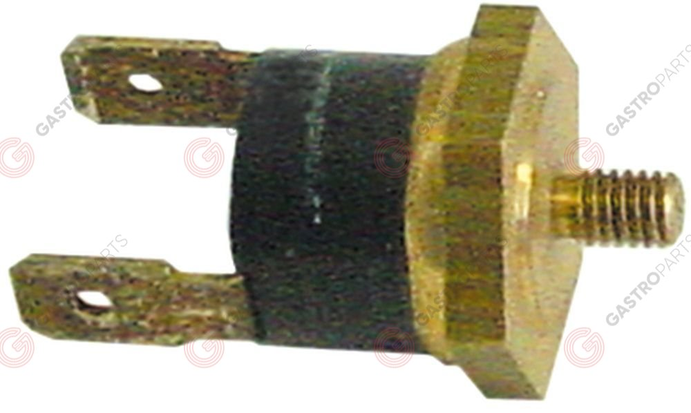 390.327, bi-metal thermostat switch-off temp. 150°C 1NC 1-pole 16A connection F6.3 M4