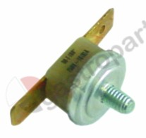 390.413, bi-metal thermostat switch-off temp. 100°C 1NC 1-pole 10A connection F6.3 M4