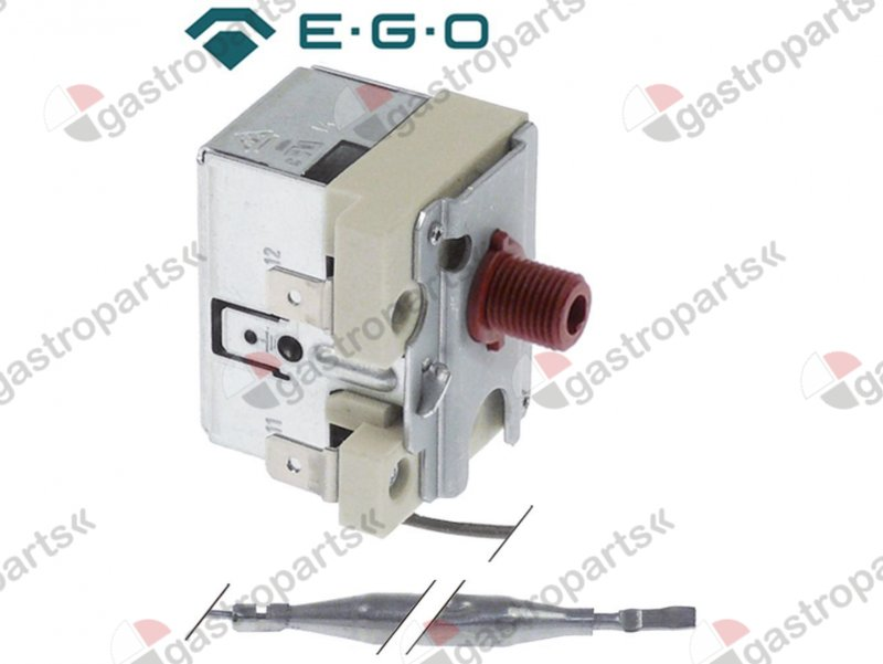 392.000, Safety thermostat switch-off temp. 170°C 1-pole 16A probe o 6mm probe L 65mm capillary pipe 1460mm