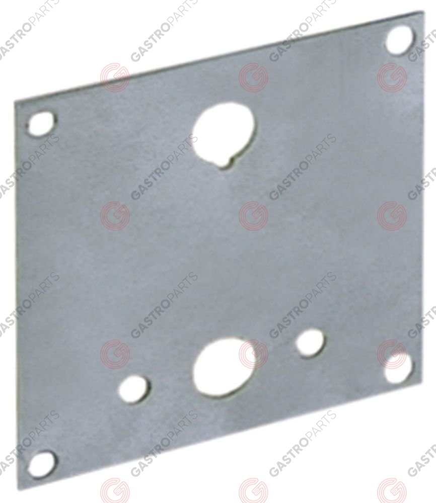 400.043, mounting plate with bore for thermostat dimensions 65x65mm