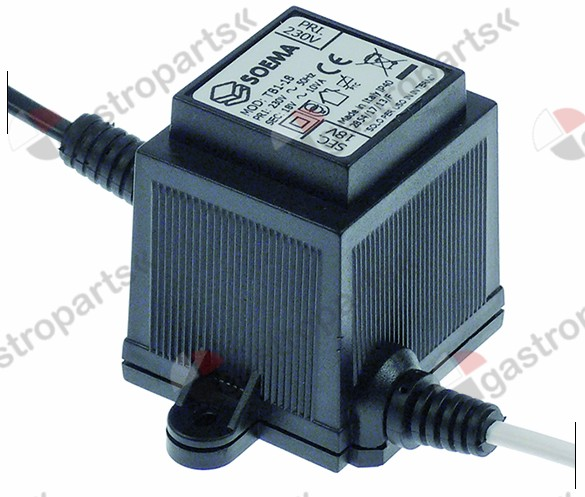 400.063, transformer primary 230V secondary 18V 10VA