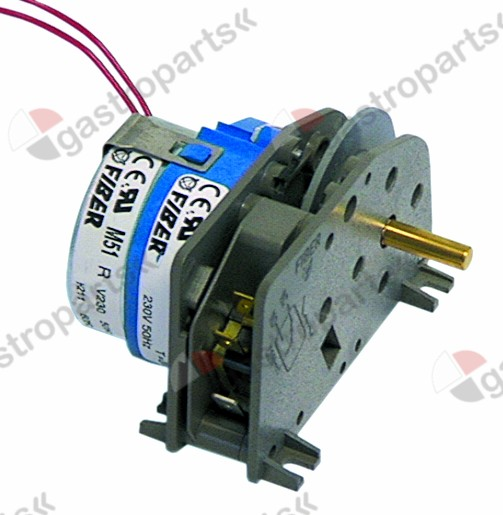 400.115, Replaced by 403577 / gear motor FIBER P25 engines 1 chambers 1operation time 20s 230V 50Hz shaft ø 6x4.6mm