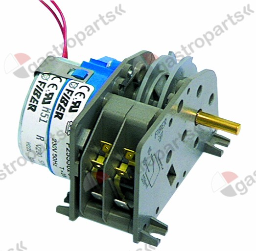 400.116, gear motor FIBER P25 engines 1 chambers 2 operation time 20s 230V 50/60Hz shaft ø 6x4.6mm
