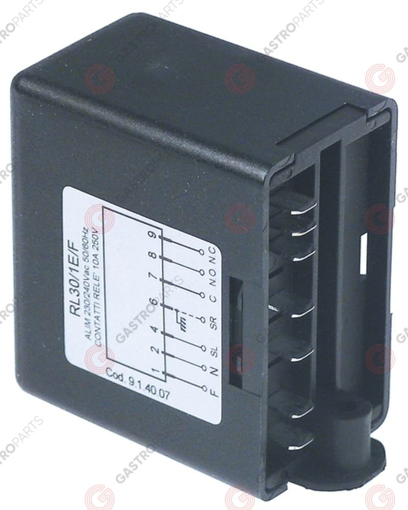 400.423, level relay 230V connection F6.3 type RL30/1E/F