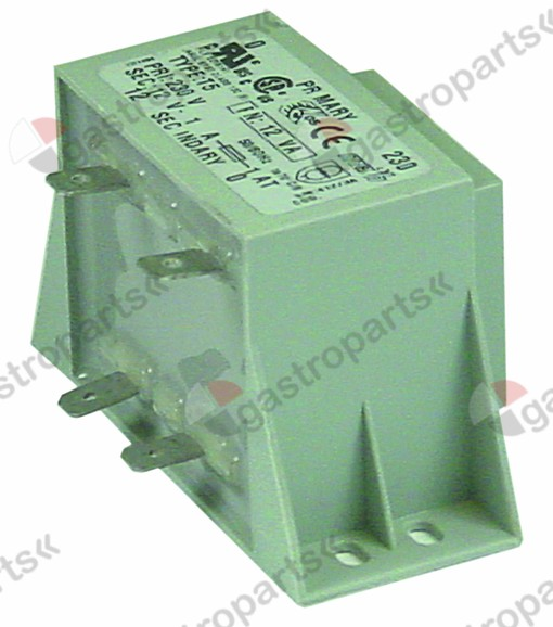 401.137, transformer primary 230V secondary 12V 12VA