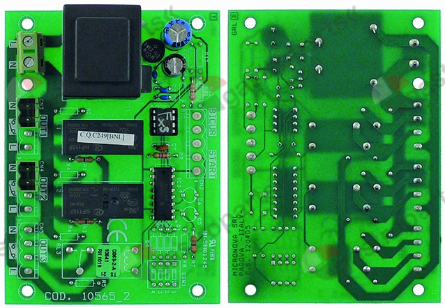 401.834, PCB for oven 230 V L 110 mm W 80 mm