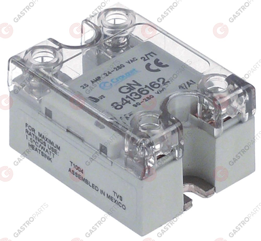 84130231 Crouzet Solid State Relay 40A Dual Output Power Relay 24-280VAC