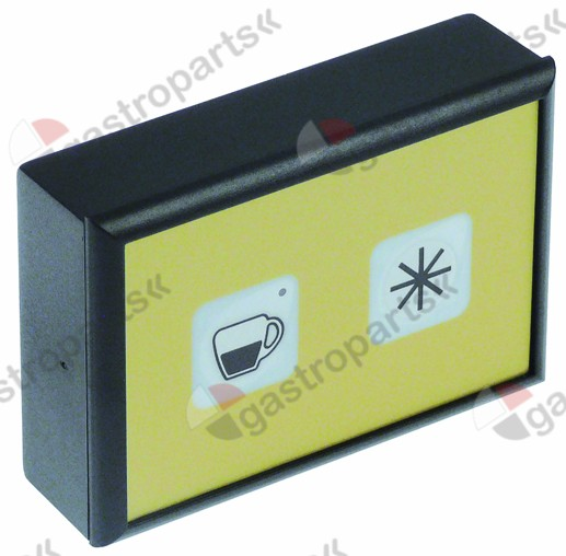 402.237, keypad unit W 60 mm L 88 mm buttons 2