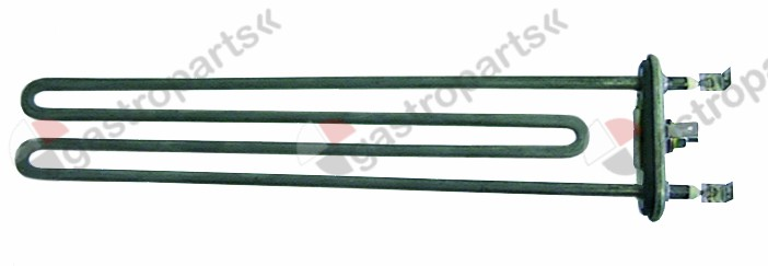 415.009, heating element 2500W 230V heating circuits 1 flange 70x26mm L 280mm W 51mm tube ø 6,3mm