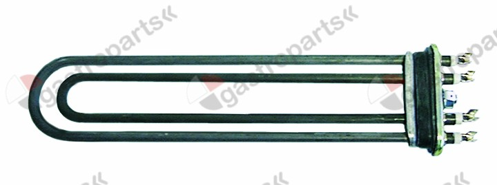 415.159, heating element 2500W 230V heating circuits 2 flange 70x18mm L 285mm W 65mm