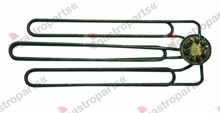 415.509, heating element 6000W 230V heating circuits 3 mounting ø 47,5mm L 145mm W 374mm H 25mm H1 5mm