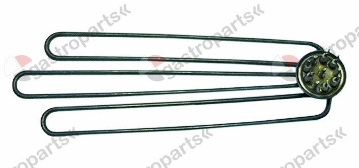 415.512, heating element 2790W 230V heating circuits 3 mounting ø 47,5mm L 375mm W 130mm H 23mm