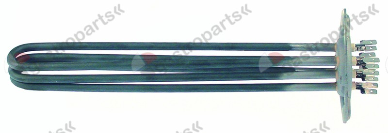415.597, heating element 3000W 230V heating circuits 3 L 255mm W 38mm H 26mm 3 hole flange