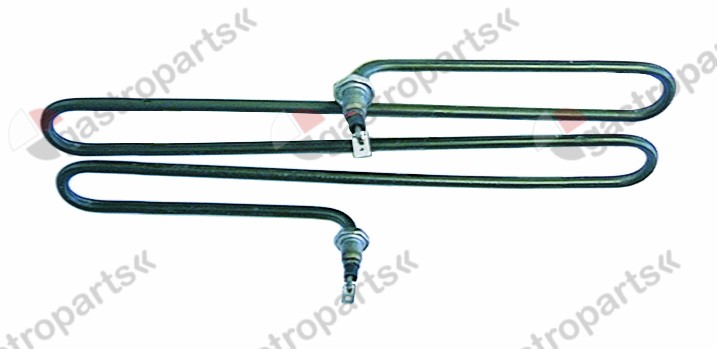 415.701, heating element 2000W 230V L 276mm W 140mm H 20mm 2 hole fixing connection male faston 6.3mm