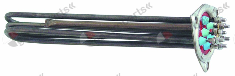 416.231, heating element 4500W 230V mounting ø 57,5mm heating circuits 3 L 307mm W 45mm H 36mm