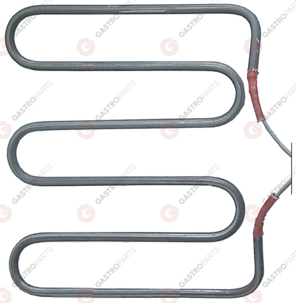 416.723, heating element 800W 230V L 178mm W 196mm H 33mm W1 50mm W2 108mm tube ø 6,3mm windings 3
