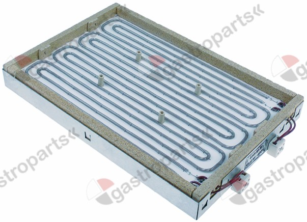 416.907, radiation heater rectangular 3500W 400V L 415mm W 275mm H 46mm heating circuits 2 connections 2