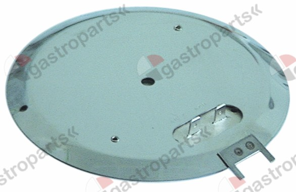 417.301, hot plate 82W 230V heating circuits 1 ø 134mm H 5mm connection male faston 6.3mm