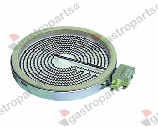 490.041, radiation heater ø 165mm 1200W 230V heating circuits 1 energy regulation