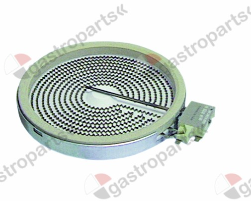 490.043, radiation heater ø 230mm 2300W 230V heating circuits 1 H 32mm energy regulation
