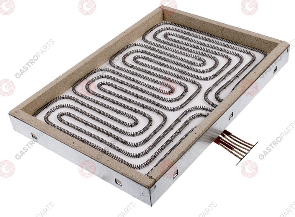 490.156, radiation heater rectangular 7500W 400V L 280mm W 400mm heating circuits 3 connections 6