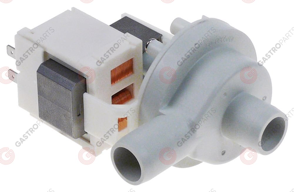 499.125, pump HANNING type DP025-258 30W 220-240V 50Hz inlet o 24mm outlet o 24mm for ice-cube maker kit