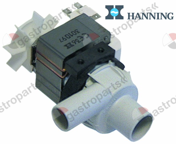 500.044, drain pump inlet ø 30mm outlet ø 24mm 230V 100W 50Hz HANNING type BE28B4-017
