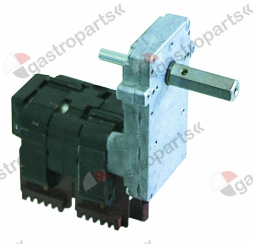 500.402, gear motor KENTA type IC9113065 69W 230V 50Hz 2rpm shaft ø 14mm W 60mm H 150mm L 150mm