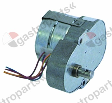 500.414, gear motor 230V 50Hz 1/3.6rpm shaft ø 8mm