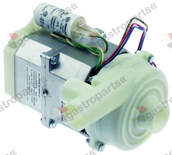 500.520, pump inlet ø 33mm outlet ø 30/28mm type T33 230V 50Hz 1 phase 0,25kW 0,34HP L 190mm