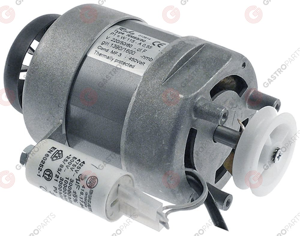 500.793, motor with belt pulley 120W 230V 50/60Hz