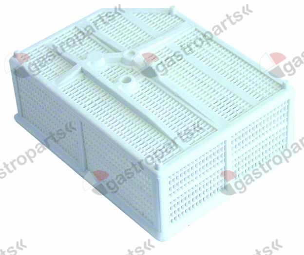 507.093, rectangular filter H 62mm L 168mm W 126mm