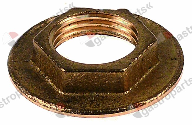 511.470, nut 1  o 40mm H 8mm WS 25 brass Qty 1 pcs