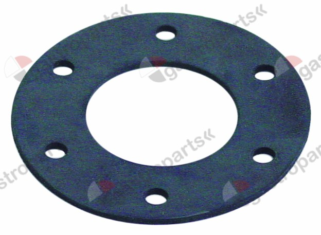 513.170, gasket 6 holes ED ø 82mm ID ø 42mm thickness 2mm rubber