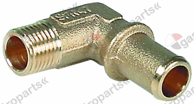 513.253, hose connector brass angled thread 1/4