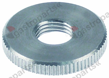 517.444, knurled nut M10x1 o 25mm H 4mm SS