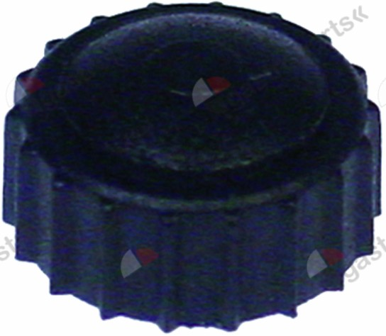 519.386, knurled nut for glass plate M4